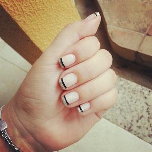 silver & Black nail polish