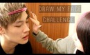 BEAUTY • DRAW MY FACE CHALLENGE // MICHELLEAXOXO ☠