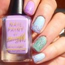 Pastel Glitter Nail Art
