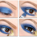 Blue and Gold Smokey Eyes