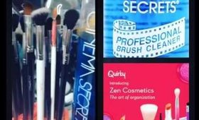My ride or die items for cleaning brushes- Cinema Secrets brush cleaner and Quirky makeup organizer
