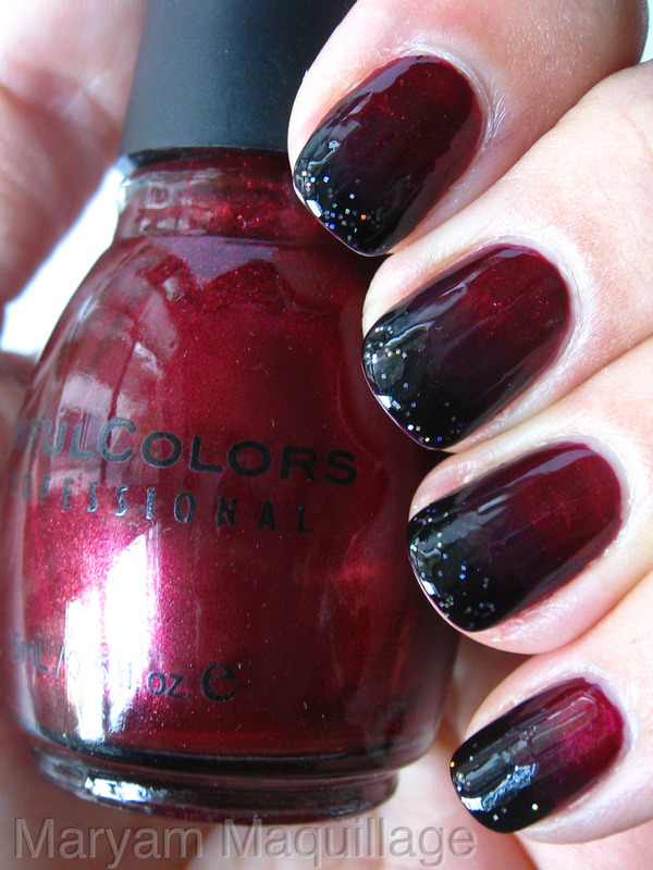 Black Blood Ombre | Maryam M.'s (Maryam) Photo | Beautylish