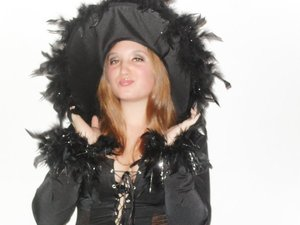 My friend Danielle as a witch