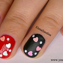 Matte and Shine Valentine's Day Nail Design