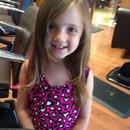 Pink hair streak
