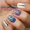 Rhinestone gradient nails