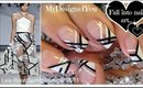 Black and White Nail Art | Lela Rose Spring 2015 Inspired ♥ Черно-Белый Дизайн Ногтей