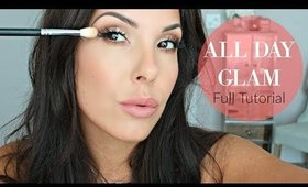 All Day Glam Makeup   Soft Full Coverage   MAC Sweet Heat