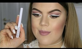 "Nyx Cosmetics ""White Liquid Liner"" Tutorial"