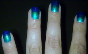 green/ purple gradient.