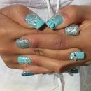 Sky-Blue Nails
