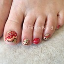 Beaded Pedicure