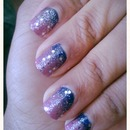 starry night/ space nails