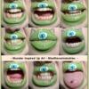 Monster Lip Art - First attempt at Lip Art using face paint pallete