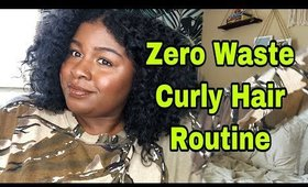 ZERO WASTE CURLY HAIR ROUTINE🌍| DIY 3c, 4a curly hair routine