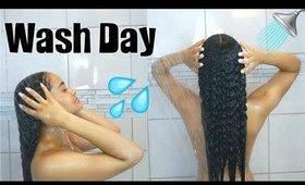 Detailed Wash Day Routine START TO FINISH | Transitioning Hair