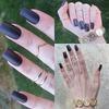 Matte Plum Nails