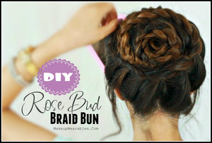 My flower braid bun hair tutorial can be found  here.