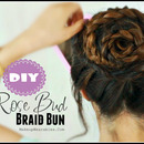 Rose Bud Braid Bun Hairstyle | Hair Tutorial