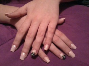 simple nail art I did to my best friend