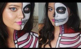 Dissected Barbie - Skull Anatomy - Makeup Look