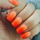 Orange/peach ombré