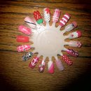 Pink and Red Nail Wheel