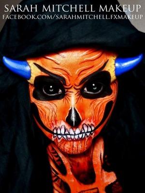 www.facebook.com/sarahmitchell.fxmakeup Gelatin horns made by me