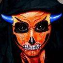 Orange Demon Facepaint + Scleras