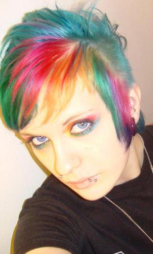 Caitlin's Rainbow Hair