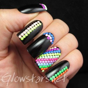 Read the blog post at http://glowstars.net/lacquer-obsession/2014/05/featuring-born-pretty-store-round-neon-studs/