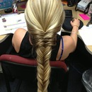 Fishtail braid done by yours truely