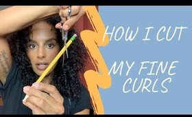 CURLY HAIR Tutorial: Fine Thin Curly Hair CUT