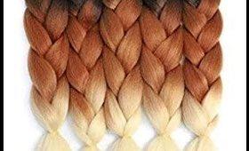 Ombre Braiding Hair Kanekalon Braiding Hair Extensions 5pcs