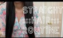 Straight Long Hair Routine: Wet to Dry