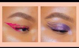 Abstract winged eyeliner makeup compilation