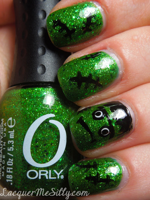 My version of a Frankenstein mani with a bit more glam :)