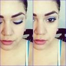 Blue liquid eyeliner.
