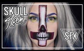 GRAPHIC SKULL GLAM | Makeup Tutorial | Caitlyn Kreklewich