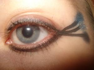 Bold eyeliner..bold look in general!