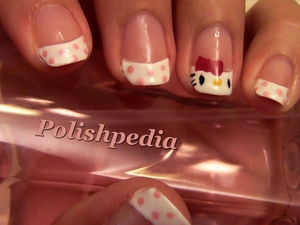 Do you love anything that has to do with Hello Kitty?  If you said yes, I understand.  I love Hello Kitty and that is why I went and did these hello kitty nails.  I love how they turned out!  Video Tutorial: http://www.polishpedia.com/hello-kitty-nail-art.html