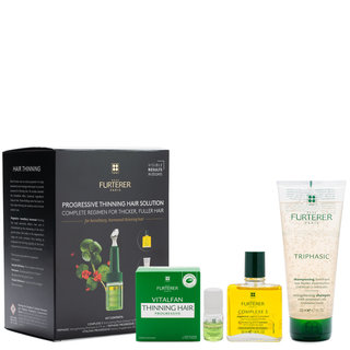 Rene Furterer Complete Thinning Hair Solution 4-Step Kit - For Hereditary and Hormonal Thinning Hair