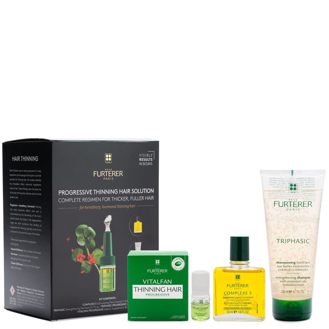 Rene Furterer Complete Thinning Hair Solution 4-Step Kit - For Hereditary and Hormonal Thinning Hair product smear.