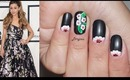 Ariana Grande Grammy 2014 Cherry Blossom Nails