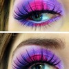Bright makeup!