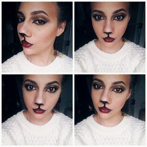 I did a cat makeup look