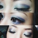 Green/Blue Smokey Eye