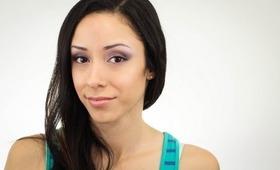 Purple Eyeshadow and Glowing Skin Tutorial