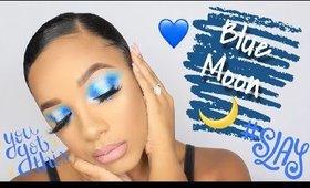 ColourPop Blue Moon Palette   Halo Smokey eye   leiydbeauty