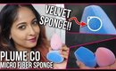 PLUME CO MICROFIBER VELVET SPONGE | REVIEW + DEMO | Stacey Castanha